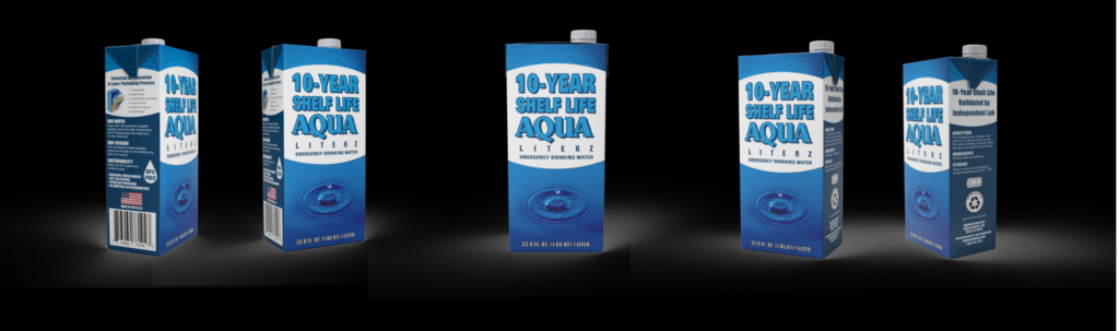 Brand New 10-year Shelf Life Aqua Literz
